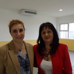 Alicia Olguin y Eugenia Carrion Canton, rectora y vice del IPES