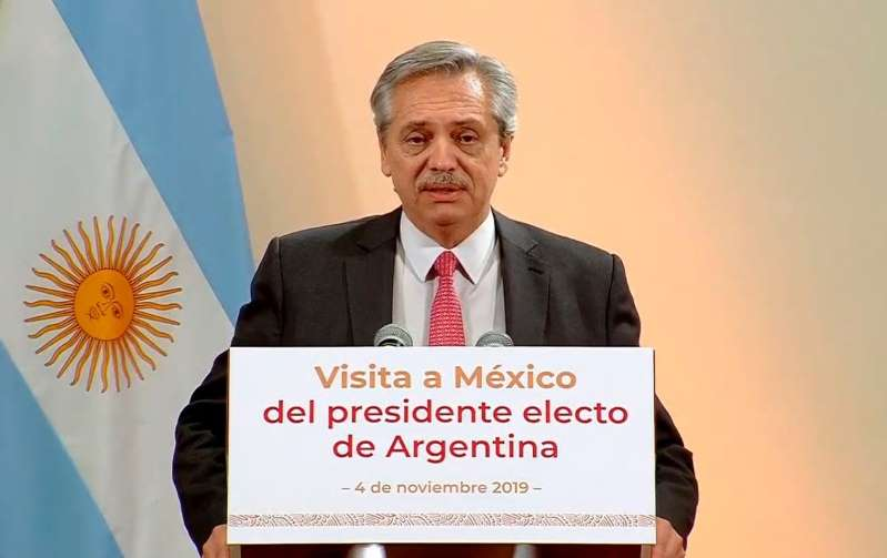 AMLO externa su apoyo a Alberto Fernández, presidente electo de Argentina